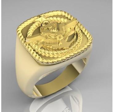 NAVIGATEUR AERIEN AERONAVALE - Or massif jaune ou gris -  Sur devis selon cours du jour de l'Or et taille de doigt