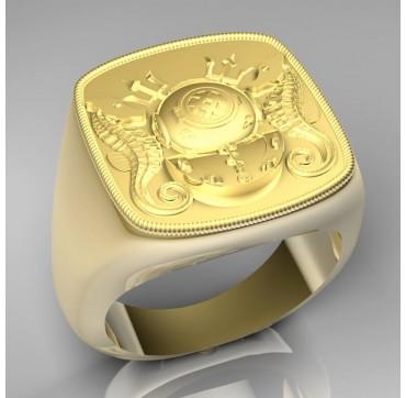 Infirmiers Hyperbaristes -  Or massif jaune ou gris - selon cours du jour de l'Or et taille de doigt