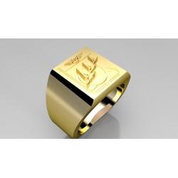 FINUL LIBAN VETERAN - Or massif jaune ou gris - Armée de Terre Sur devis selon cours du jour de l'Or et taille de doigt