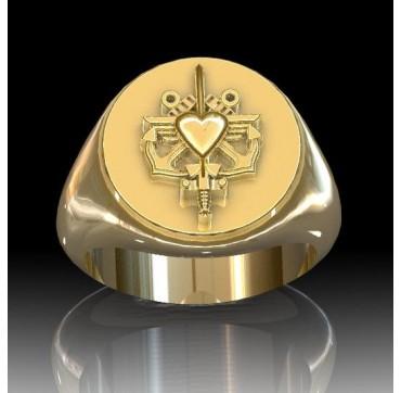 Épouses de militaires Or massif jaune ou gris -  Sur devis selon cours du jour de l'Or et taille de doigt