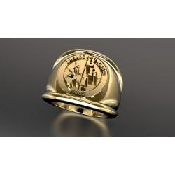 Police nationale - Or massif jaune ou gris - selon cours du jour de l'Or et taille de doigt