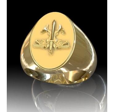 PLONGEUR INTERVENTION OFFENSIVE -  Or massif jaune ou gris - selon cours du jour de l'Or et taille de doigt