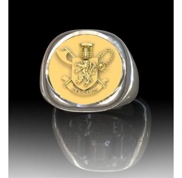 3nd Paras commandos Belges - Argent massif + Plateau Or massif 9 carats 375/1000eme- Autres Corporations