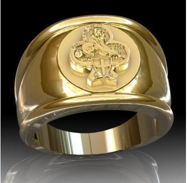 35eme Régiment d'Infanterie - Or massif jaune ou gris - Armée de Terre Sur devis selon cours du jour de l'Or et taille de doigt