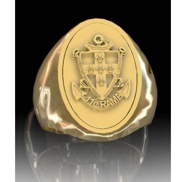 11EME RAMA - Or massif jaune ou gris - Armée de Terre Sur devis selon cours du jour de l'Or et taille de doigt