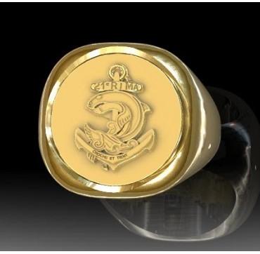 21EME RIMa - Or massif jaune ou gris - Armée de Terre Sur devis selon cours du jour de l'Or et taille de doigt