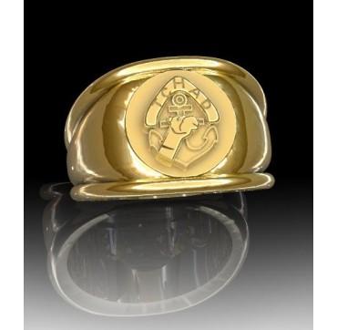 REGIMENT DE MARCHE DU TCHAD - Or massif jaune ou gris - Armée de Terre Sur devis selon cours du jour de l'Or et taille de doigt