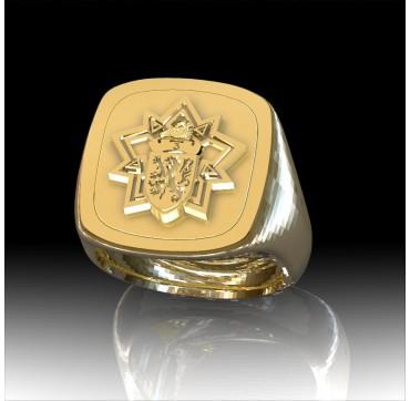 3EME REGIMENT DU GENIE -Or massif jaune ou gris - Armée de Terre Sur devis selon cours du jour de l'Or et taille de doigt