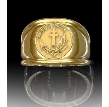 PORTE AVION CHARLES DE GAULLE - Or massif jaune ou gris - selon cours du jour de l'Or et taille de doigt