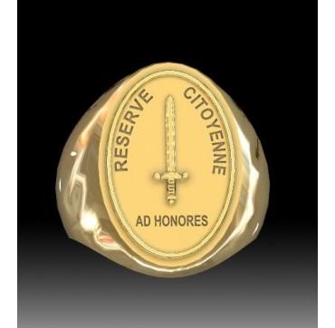 Réserve Citoyenne - Or massif jaune ou gris - Armée de Terre Sur devis selon cours du jour de l'Or et taille de doigt