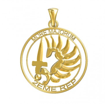 PENDENTIF LEGION ETRANGERE 2EME REP MORE MAJORUM