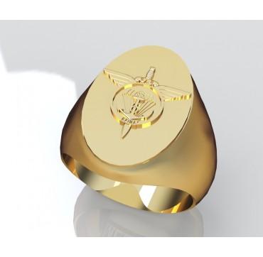 6EME RPIMa ovale - Or massif jaune ou gris - selon cours du jour de l'Or et taille de doigt