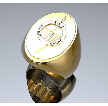 1er RPIMa - Or massif jaune ou gris 18 carats - selon cours du jour de l'Or et taille de doigt