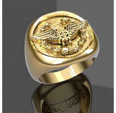 MECANICIENS - Or massif jaune ou gris - selon cours du jour de l'Or et taille de doigt
