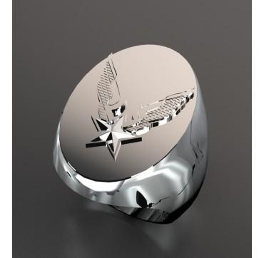 Alat ovale- Argent massif - Armée de Terre