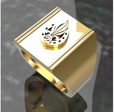 Légion étrangère 2EME REI - Or massif jaune ou gris - Armée de Terre Sur devis selon cours du jour de l'Or et taille de doigt