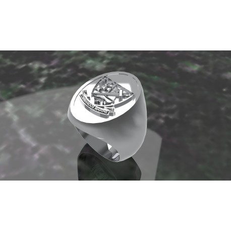 Commandos de marine Ovale- Argent massif - Marine Nationale