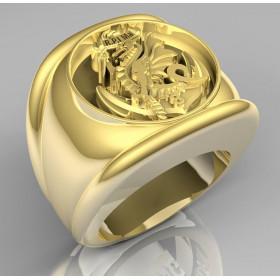 DIOCÈSE AUX ARMÉES - Or massif jaune ou gris - selon cours du jour de l'Or et taille de doigt