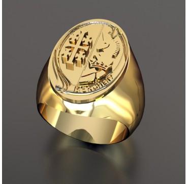 1ER RHP - Or massif jaune ou gris - selon cours du jour de l'Or et taille de doigt