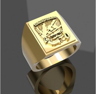 ECOLE DES FUSILIERS MARINS  - Or massif jaune ou gris -  Sur devis selon cours du jour de l'Or et taille de doigt