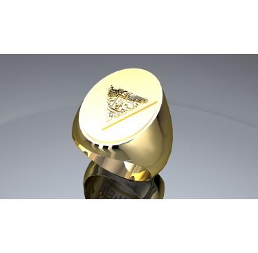2EME REP - Or massif jaune ou gris - Armée de Terre Sur devis selon cours du jour de l'Or et taille de doigt