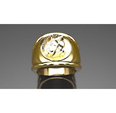 A-E COMMANDANT BORY - Or massif jaune ou gris -  Sur devis selon cours du jour de l'Or et taille de doigt