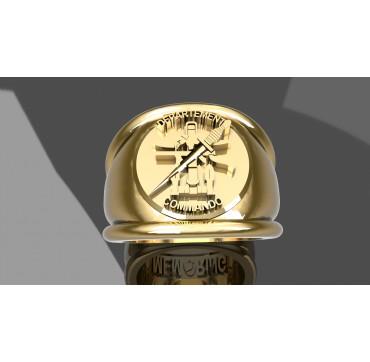 DEPARTEMENT COMMANDO - Or massif jaune ou gris -  Sur devis selon cours du jour de l'Or et taille de doigt