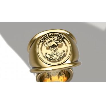 Blindée & Cavalerie - Or massif jaune ou gris - Armée de Terre Sur devis selon cours du jour de l'Or et taille de doigt
