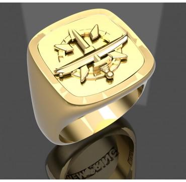 Sous mariniers supérieur - Or massif jaune ou gris18k - selon cours du jour de l'Or et taille de doigt