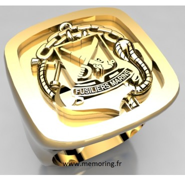 Fusiliers marins  - Or massif jaune ou gris - selon cours du jour de l'Or et taille de doigt