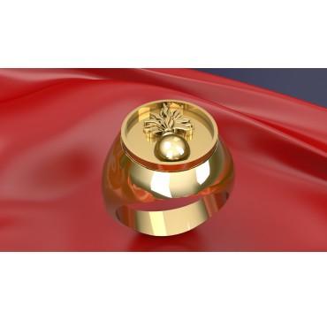 ECOLES ARMÉE DE TERRE - Or massif jaune ou gris -  Sur devis selon cours du jour de l'Or et taille de doigt