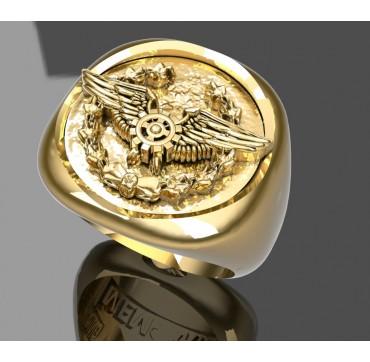MECANICIEN AU SOL - Or massif jaune ou gris - selon cours du jour de l'Or et taille de doigt