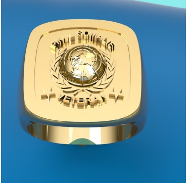 FINUL UNITED NATIONS SOMALIE OR 18 CARATS JAUNE OU GRIS