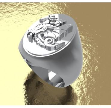 Chimère 1er RPIMa - Ovale Argent massif - Armée de Terre