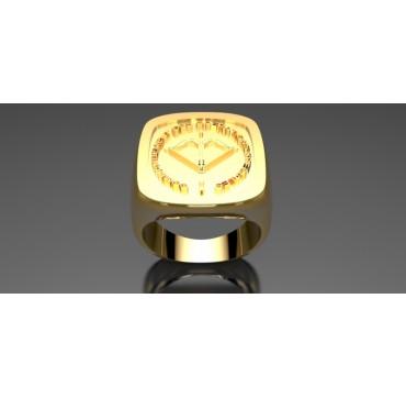 COS -  Or massif jaune ou gris - selon cours du jour de l'Or et taille de doigt - Armée de Terre